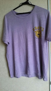 GU★アメカジ★トラ★紫Tシャツ★sizeL