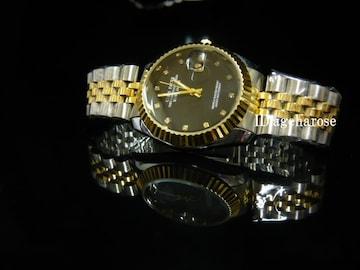 新品★腕時計 コンビ・ブラック/ロレックス好きに