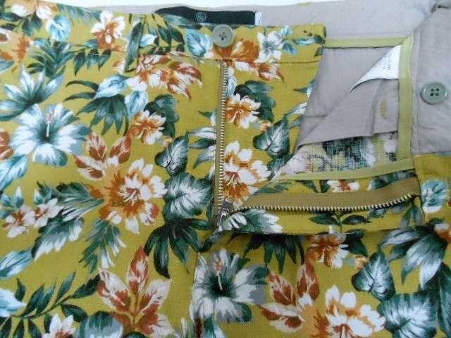 □ユナイテッドアローズ 麻素材 花柄パンツ/メンズ/S☆新品★新作 < ブランドの