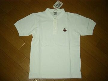 新品CALEEキャリー鹿の子ポロシャツS白