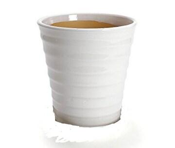 【2点で 700円】白い陶器製植木鉢セット お好みのサイズで