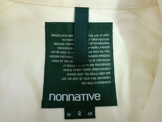 nonnative オードソックスシャツ ノンネイティブ UNDERPASS 黄 < 男性ファッションの