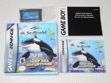 GBA★SEAWORLD ADVENTURE PARKS SHAMU'S DEEP SEA ADVENTURES