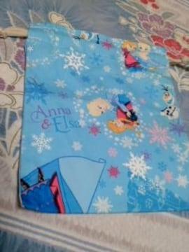 ディズニーアナ雪柄巾着袋