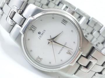 12369/JEMIS★素敵なホワイトダイヤルレディース腕時計お洒落さん必見