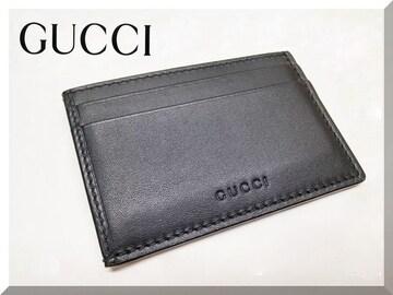 ☆GUCCI☆グッチ レザ—カードケース 新品同様 410124