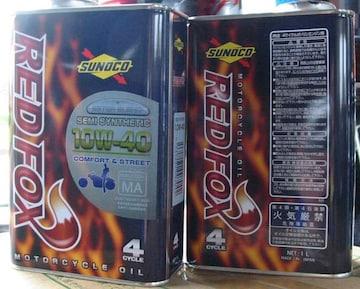 ☆ SUNOCO REDFOX. COMFORT&STREET 10W-40. 1L缶×3.