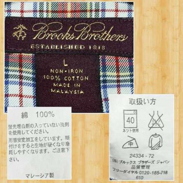 BROOKS BROTHERS ブルックスブラザーズ チェックシャツ 超美品 L < ブランドの