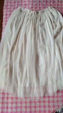 新品 大きいサイズLL〜3L  ゴム レース2枚使い スカート