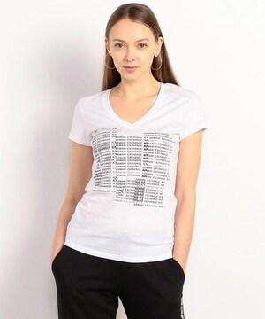 タグ付き新品アルマーニエクスチェンジ/ロゴ半袖Tシャツトップス