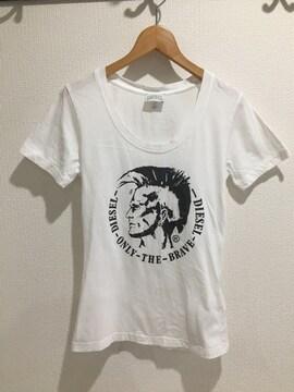 DIESEL ディーセル レディース 半袖 Tシャツ トップス 白 ホワイト