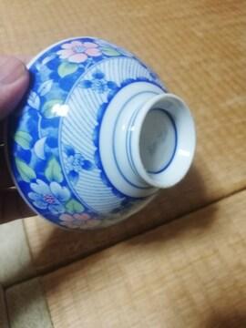 ☆激安☆大幅値下青色花柄お洒落な高級お茶碗20点セット(未使用)