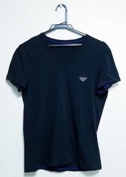 ★送料無料★正規EMPORIO ARMANI/エンポリ★イーグルプリントTシャツ★ブラック
