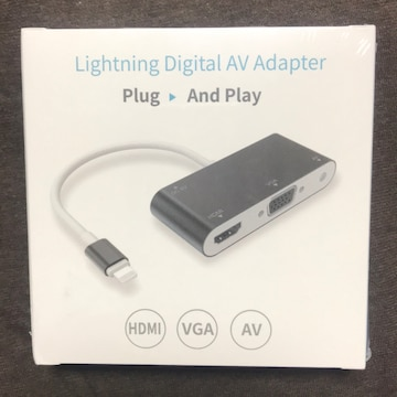 iPhone to HDMI/Audio/VGA 変換 アダプタ GrayRabbit Digital AV
