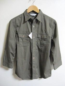 □EDIFICE/エディフィス 七分袖 ミリタリーシャツ/メンズ/40
