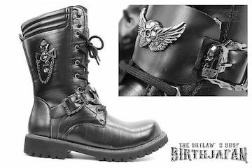 送料込 ロングブーツ 靴 メンズ シューズ カジュアル オラオラ ホスト 109 黒 26.5