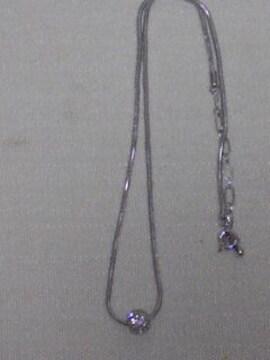 NEW美品ラインストーントップ丸形ネックレスシンプルアジャスタ-付値下ダヨ^-^