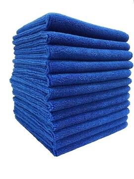 マイクロファイバー洗車クロス 12枚入 ブルー