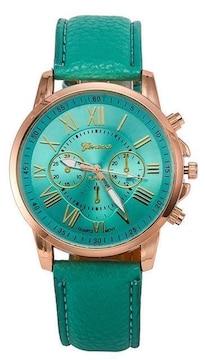 今回限り600円★休日お洒落に腕時計グリーン初期不良保証
