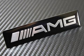 ///AMG ブラック 3D エンブレムシールBenz