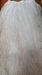 【新品】白レース☆プリーツ☆マキシスカート