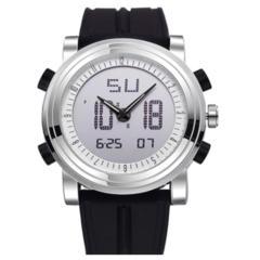 スポーツ腕時計 ファッション デジタル アナログ 黒
