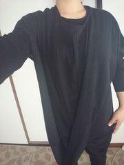 秋〜春ゆったりブラック大きめ体型カバーOK☆L〜3Lサイズむけ