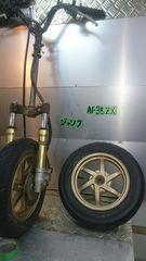 AF35 ライブディオ Dio ZX 前後足周りセット 金ホイル 旧車 当時