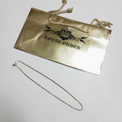 【ワケあり】ROYAL ORDER/ロイヤルオーダー★ネックレスチェーン(中古品)&SHOP袋