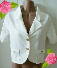 とても美品♪半袖ジャケット/白