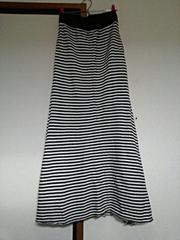 LOWRYSFARM*美ライン♪コットンボーダーフレアロングスカート