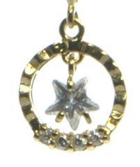 星型キュービックジルコニア ネックレス