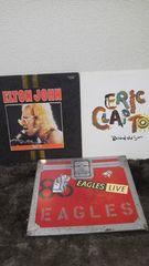 イーグルス、エルトンジョン、エリッククラプトン、3枚レコード
