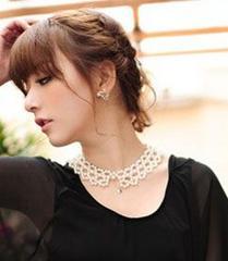 新品[6580]可愛らしいフェイクパールの付け襟ネックレス