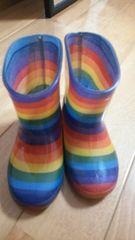 レインボー長靴15センチ美品