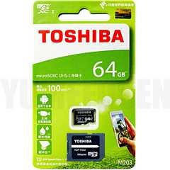 送料無料 即決でSDアダプタ 100MB/s 東芝 microSDXC 64GB Class10