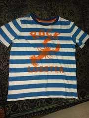 美品☆ランズエンドの半袖ボーダーTシャツ(130)8歳