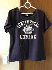 (56)半袖Tシャツ@濃紫