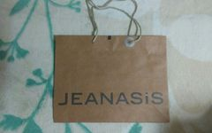 JEANASIS ショップ袋 42×32×11 美品