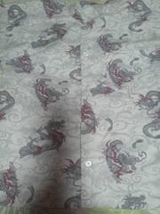 ☆新柄白×雲海龍玉柄ダボシャツ140