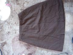 茶色 63 シンプルスカート