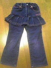 ミニKスカート付きジーンズ110