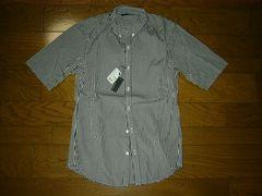 新品LUVA TRAMルーバトラムギンガムチェックシャツM白黒上野商会
