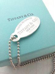 ティファニー【TIFFANY&CO.】925SV リターントゥ オーバル ペンダント ネックレス
