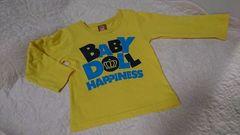 ★BABY DOLL★黄色のロングTシャツ�A★サイズ90・美品★