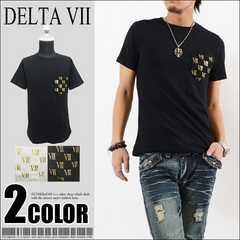 メール便送料無料【DELTA】Tシャツ70680新品黒金L