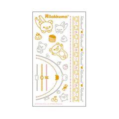 【リラックマ】可愛いブレスレット.指輪.陶器.紙に♪タトゥーアクセサリーシール