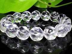 トルネードクリスタル高級水晶12ミリ水晶数珠流れる流線型