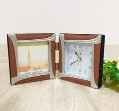 新品未使用インテリフォトフレーム置き時計写真立て
