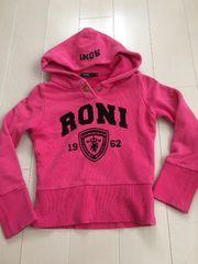 RONI'ロニィ★S/100〜110ロゴパーカートレーナー